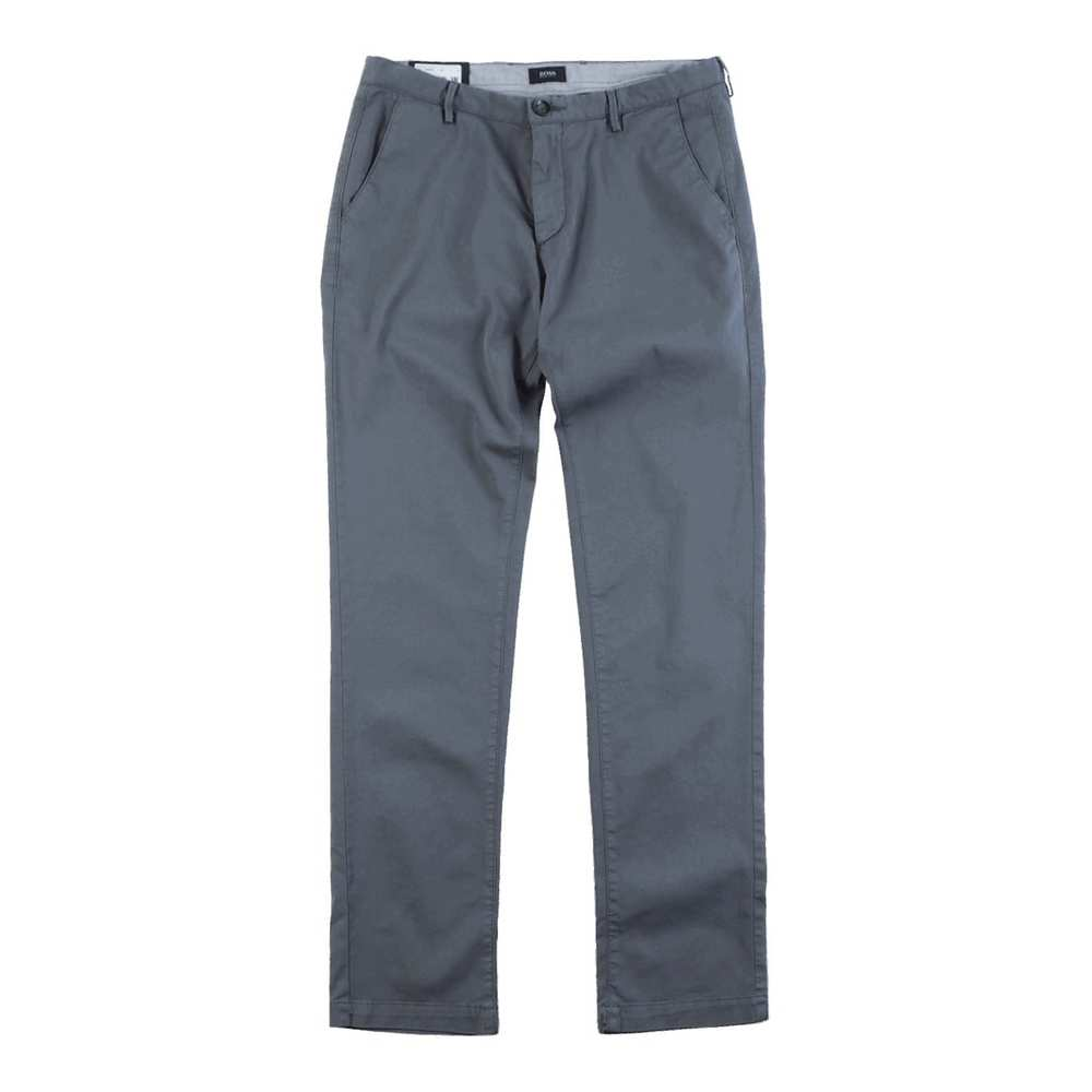 Slim Fit Trousers with a Straight Leg Rice3-D Dark Green