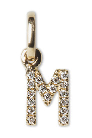 Letter Pendant with Diamonds M, 18 carat gold
