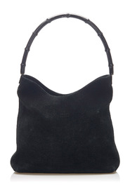 Bamboo Suede Shoulder Bag