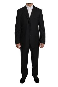 Stripe Two Piece 3 Button Wool Suit