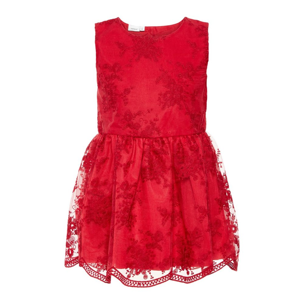 Dress embroidered tulle