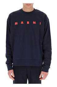 Sweatshirt med logo print