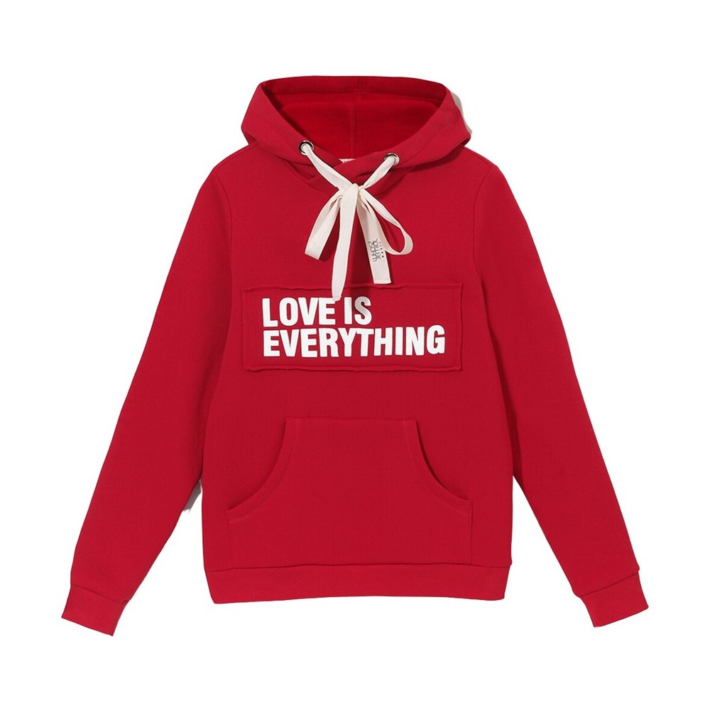 Bluza z kapturem czerwona męska - LOVE IS EVERYTHING