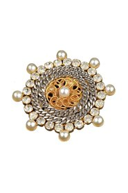 Haute Couture Bicolor Metal Brooch