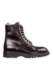 women's leather combat boots