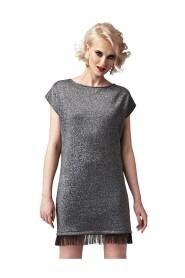 Sukienka brokatowa z rozcięciem na plecach