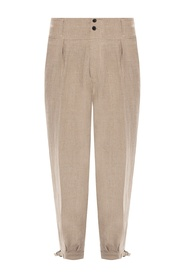 Linen trousers with several pockets