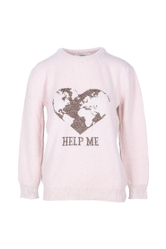 Pale Pink Cashmere Blend Women's Sweater