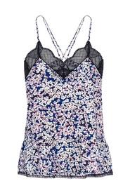 Patterned top with straps
