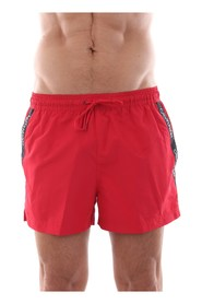 CALVIN KLEIN KM0KM00272 SHORT DRAWSTRING swimsuit  sea and pool Men RED