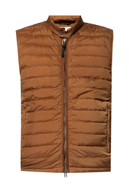 Quilted vest with stand-up collar