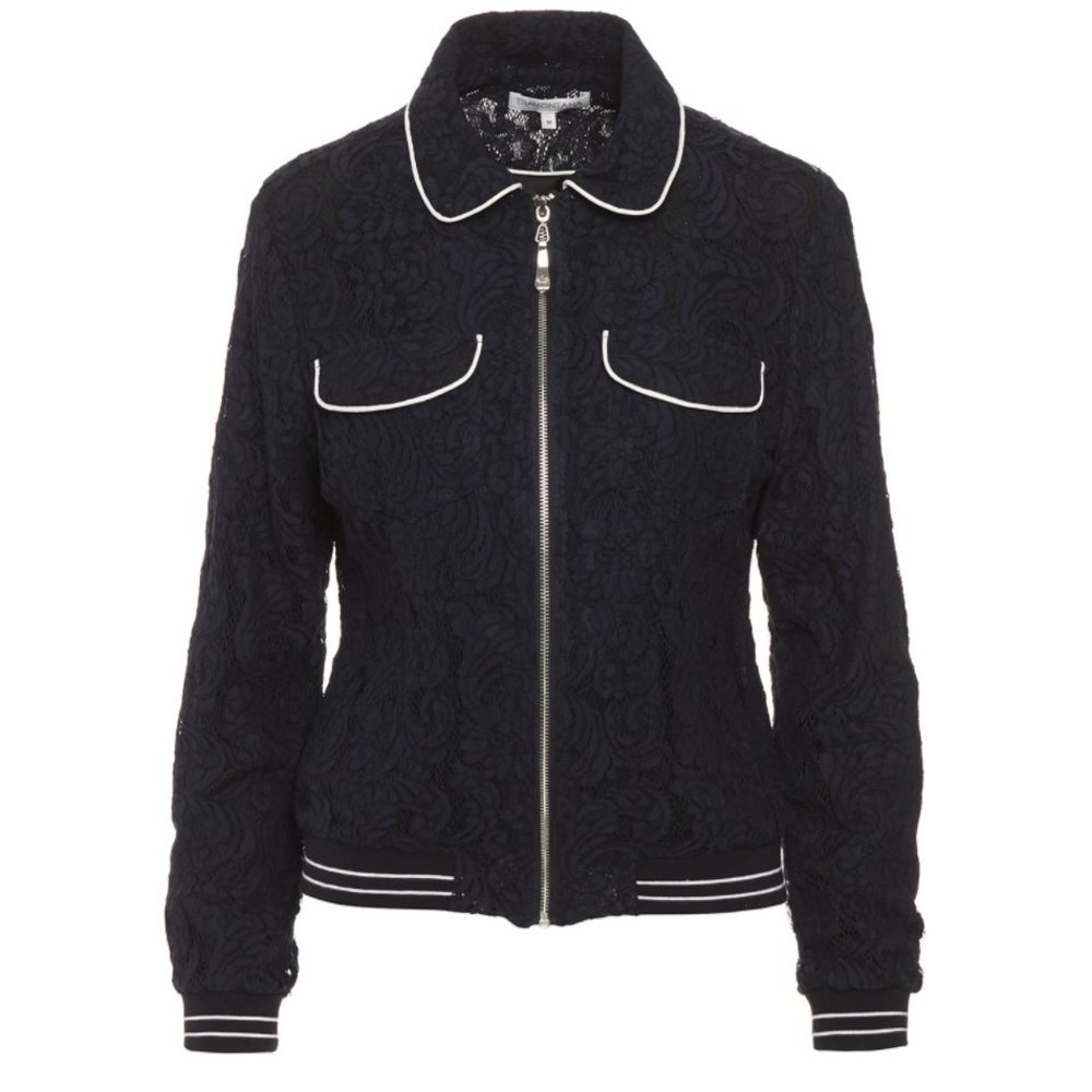 Jacket Lace Contrast Piping
