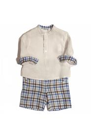 COMPLETE HALF SLEEVE SHIRT WITH CHECKED BERMUDA SHORTS