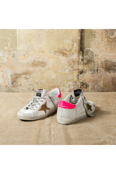 Golden Goose White Superstar Sneakers - Wit SimY56F
