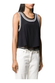 CALVIN KLEIN JEANS J20J213621 TANK MESH T SHIRT AND TANK Women BLACK