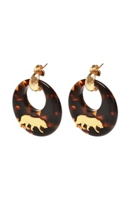 'Tiger' round earrings