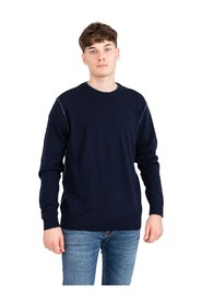 Wool / cashmere sweater with contrasting profiles
