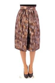Floral Silk Straight Full Skirt