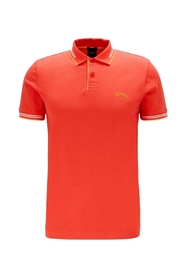 Slim-fit polo shirt med stretch pique Model Paul Buet 50412675