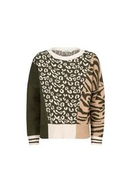 Sweater Patchwork Overdel