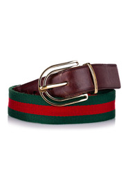 Pre-owned Web Canvas Belt