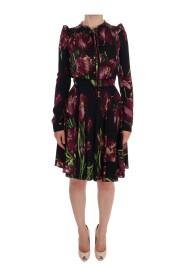 Silk Stretch Tulip płaszcza Sukienka