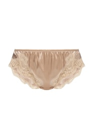 Silk briefs with lace trims