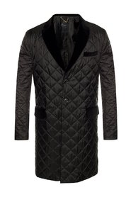 Quilted coat with pockets