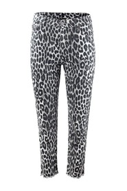 Cheetah Cropped Jeans
