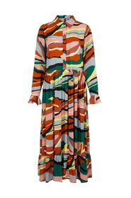 Shirt dress Abstract-print