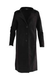 Suedine mantel zwart - Rebelz