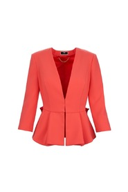 Fitted jacket with ruffles