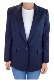 Enkeltspent jakke i blazerstil