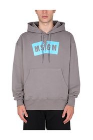 RIPPED VERSION HOODIE WITH LOGO BOX