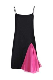 Strappy Dress With Godets