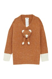 Stuffed Cat Hand-Knitted Pullover
