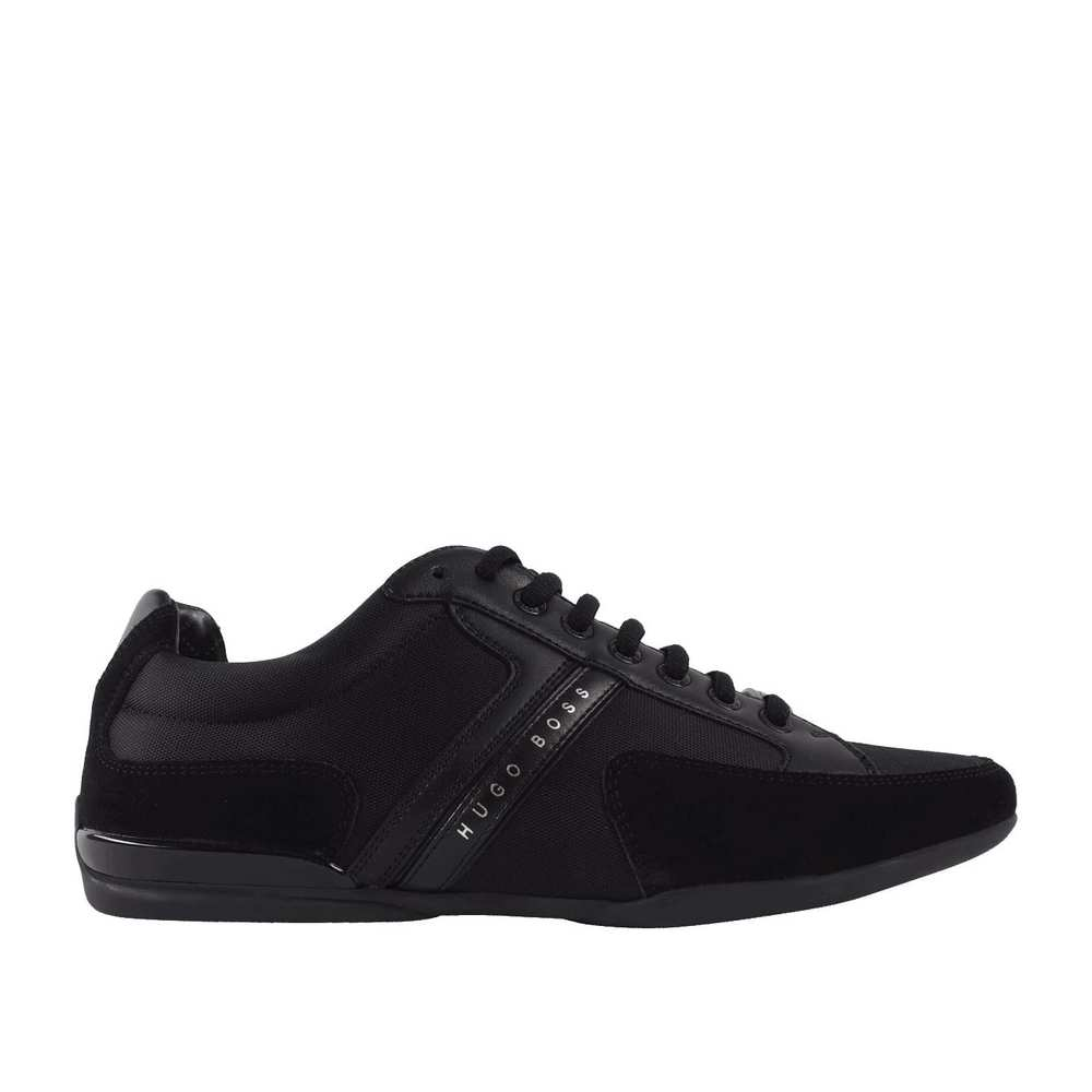 Sneakers in Black Leather/Nylon Mix