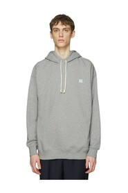 Hooded Oversized Face Patch Sweatshirt