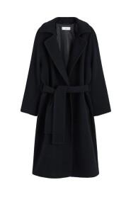 Uldfrakke med bælte