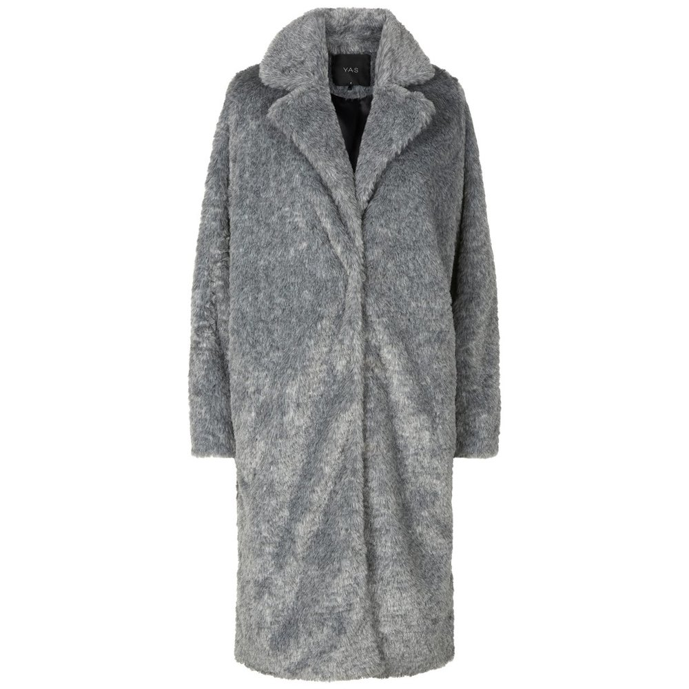 Jacket Light Grey Faux Fur