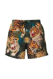 Tiger Print Swimshorts