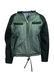 Metallic Quilted Bomber Jacket -Pre Owned Condition Very Good