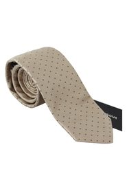 Silk Dotted Wide Necktie Men  Tie
