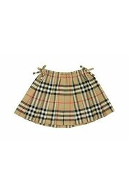 MINI PEARLY - Vintage Check Cotton Pleated Skirt