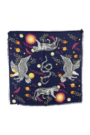 Space Animals Print Square Scarf 90 x 90