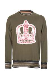 CROWN EMBRODERY SWEATER