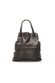 Studded Intrecciato Leather Tote Bag