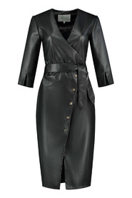 Fifth house mod wrap dress black.