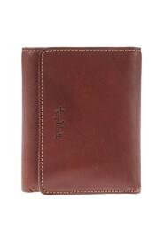 Trefodrad läder plånbok