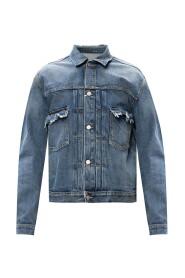 Jacket with raw edge